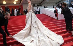 Dramatic Poses on the Cannes Film Festival Red Carpet