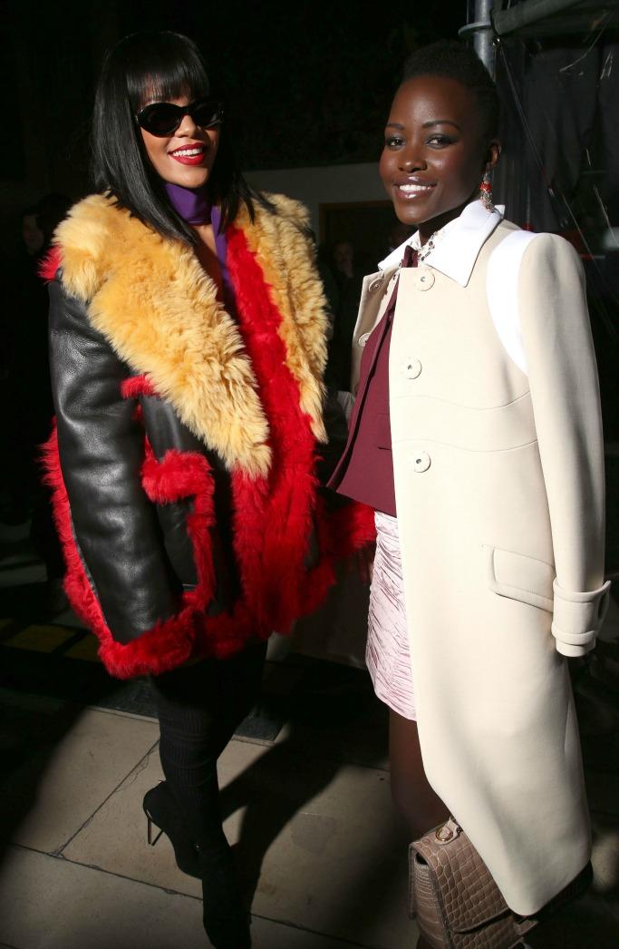 Rihanna and Lupita Nyong'o, miu miu