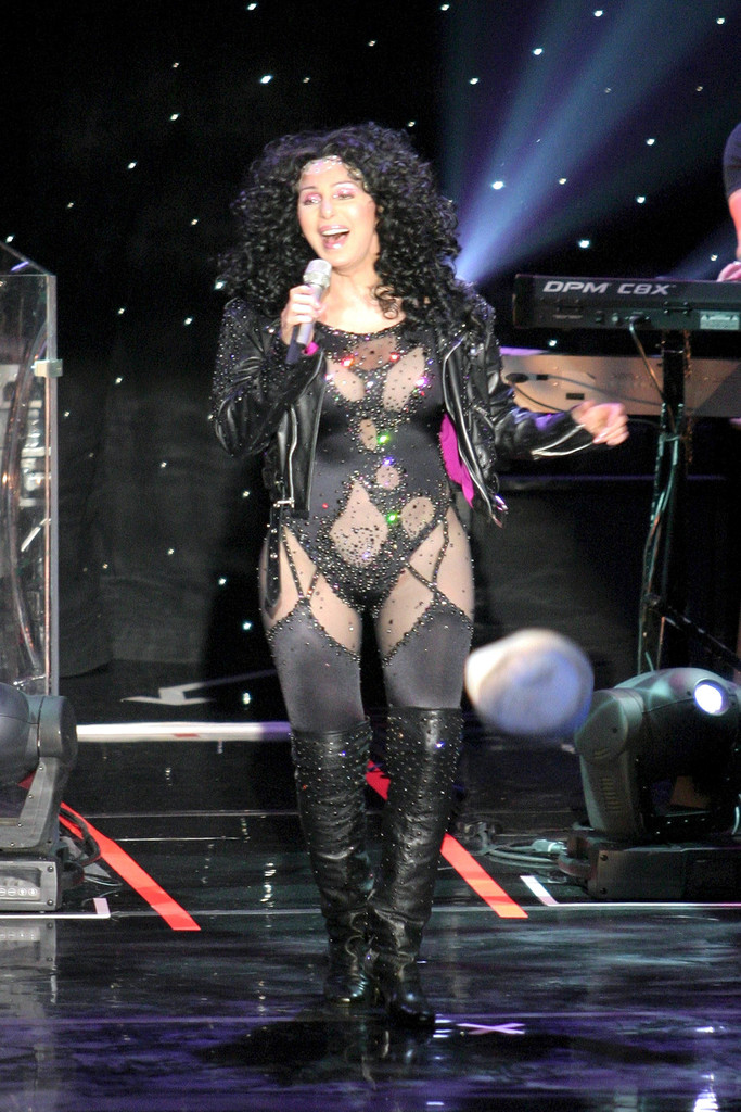 Cher, turn back time, costume, boots