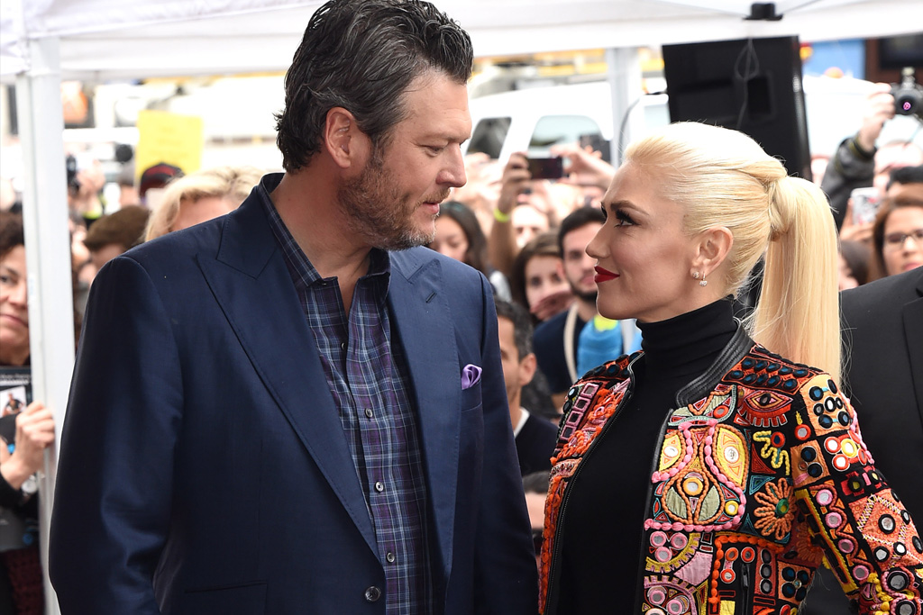 Blake Shelton and Gwen StefaniAdam Levine honored with star on The Hollywood Walk of Fame, Los Angeles, USA - 10 Feb 2017