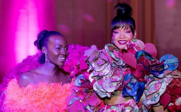 Rihanna and Lupita Nyong'o, met gala 2017