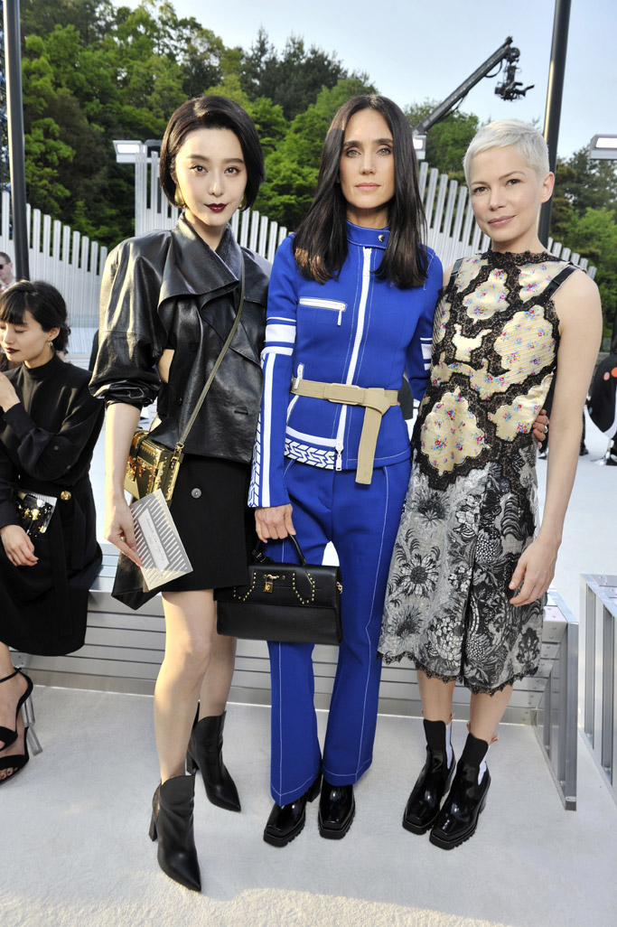 Louis Vuitton 2018 Cruise Collection Fan Bingbing michelle williams jennifer connelly