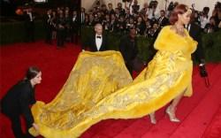 Rihanna Met Gala steps Guo Pei