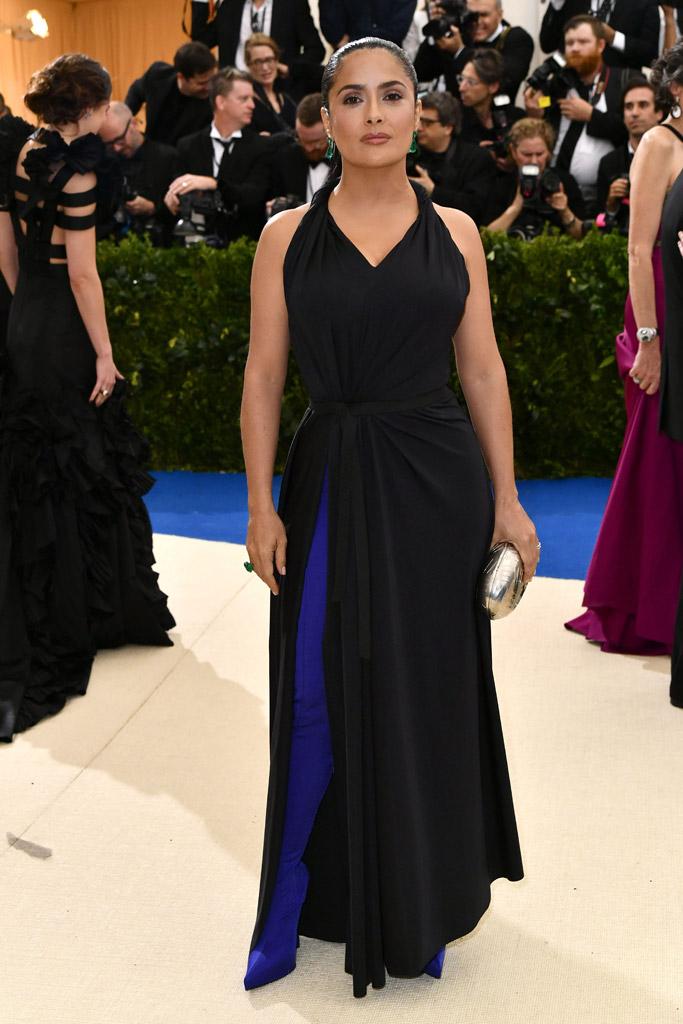 Salma Hayek wears Balenciaga met gala 2017