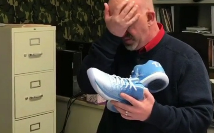 Teacher Receives Sneaker Gift From Students