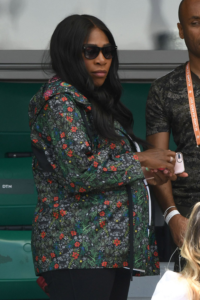 Serena Williams wears floral jacket to the French Open