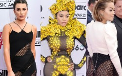 billboard music awards, 2017, celebrities, sheer,