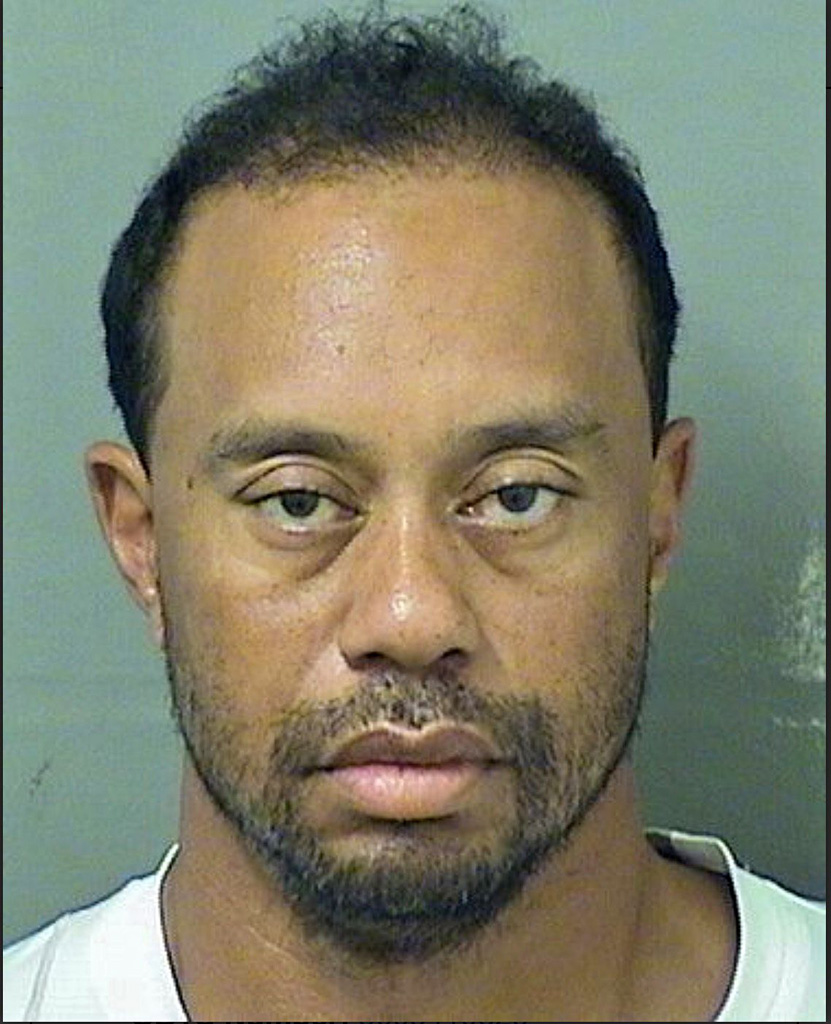 Tiger Woods Nike Golf Mugshot Arrest