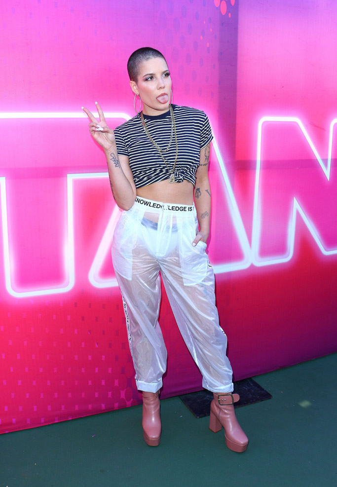 Halsey see-through 2017 Wango Tango Red Carpet Style fashion celebrities performers lineup dress shoes