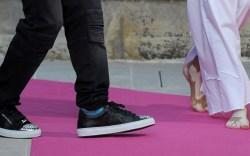 Winnie Harlow Walks in Philipp Plein's Resort 2018 Show