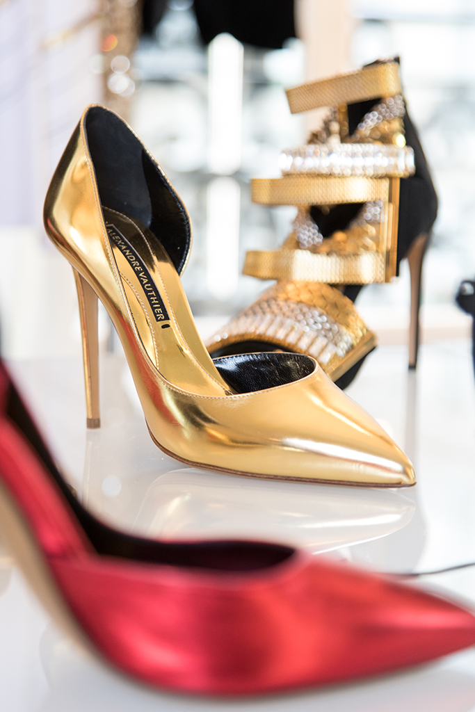 Gold pumps by Alexandre Vauthier