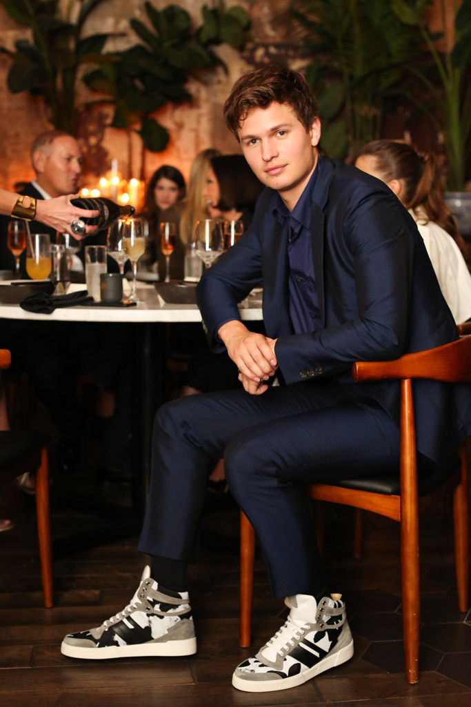 ansel elgort, paul andrew, shoes, sneakers, collaboration