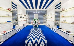 the Aquazzura Boutique in Costa Mesa,