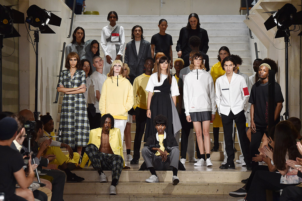 Models on the catwalk at Avoc SS '18 show at Paris Fashion Week Men's.