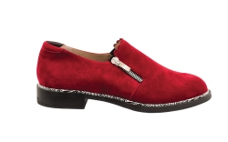 beautiful red suede side zip slip-on