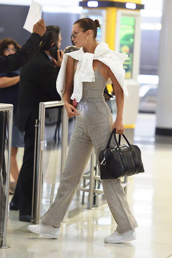 Bella Hadid, sneakers, Nike Cortez