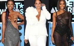 bet awards, 2017, red carpet, dress,