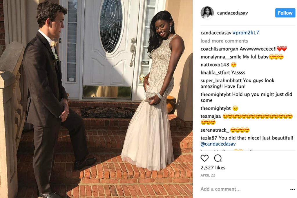 Asics Candace Hill prom dress Instagram