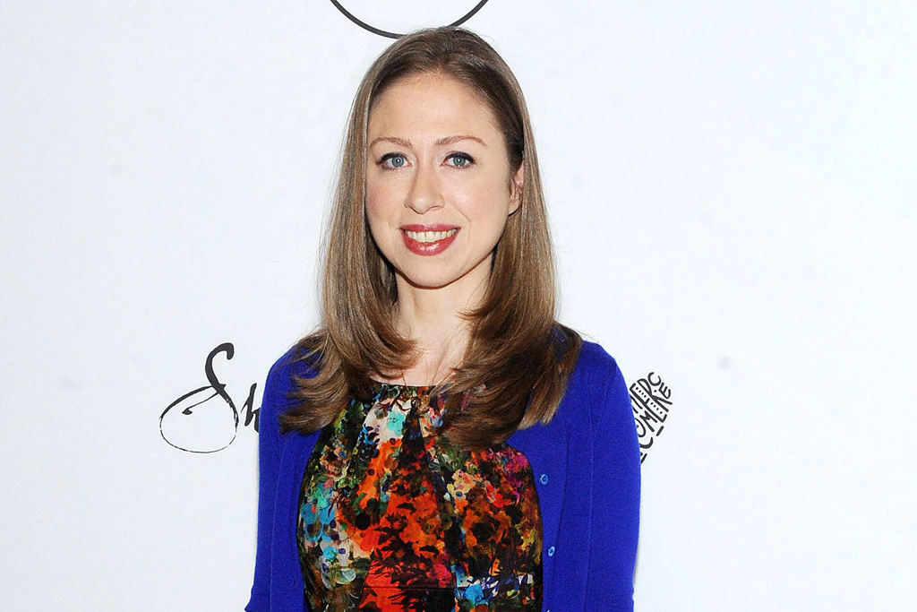 » Chelsea CLinton walked with her parents during the 1997