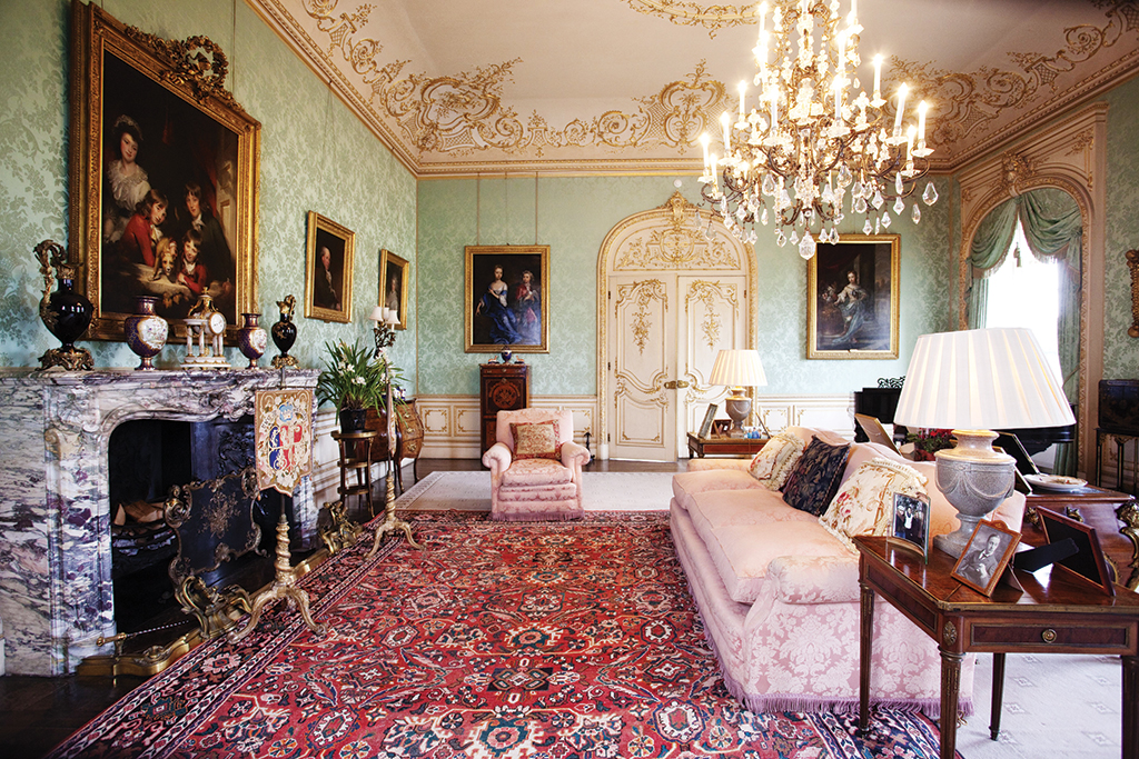 A room at Highclere Castle where Downton Abbey was filmed