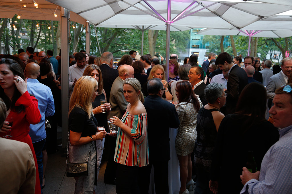 Attendees mix and mingle at the FFANY opening night event.