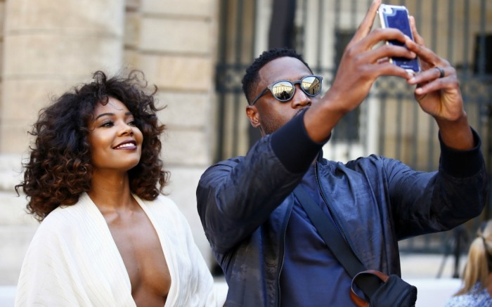 paris men's fashion week, gabrielle union and dwyane wade, berluti spring 2018