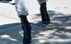 Celebrities Wearing Denim-on-Denim With Dark Boots