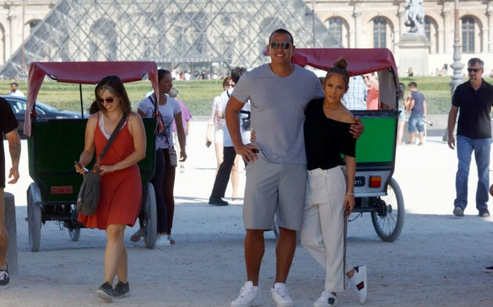 Jennifer Lopez and Alex Rodriguez, gucci sneakers