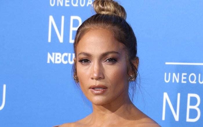 Jennifer Lopez style red carpet NBCUniversal Upfront Presentation Elie Saab