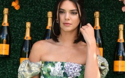 Kendall Jenner at the Veuve Clicquot