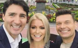 Kelly Ripa Ryan Seacrest Justin Trudeau