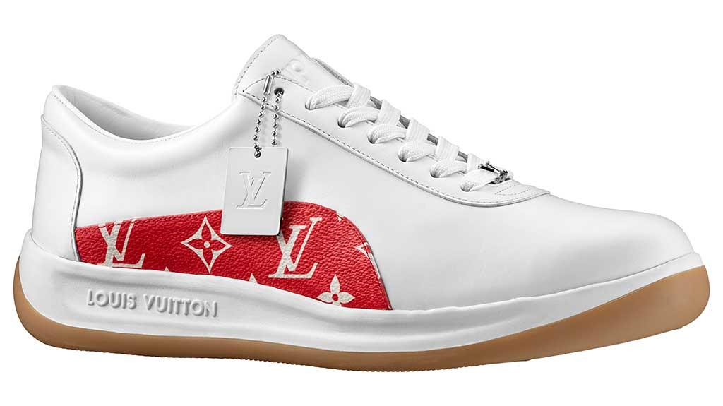 Louis Vuitton x Supreme sneaker.