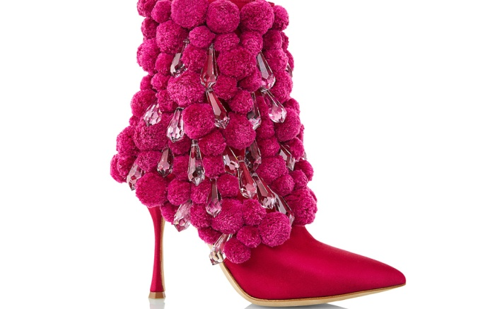Manolo Blahnik's crystal shoe