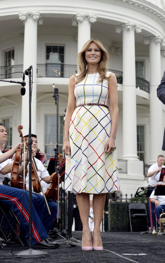 Melania Trump, congressional picnic, 2017, celebrity style