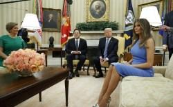 Melania Trump in Christian Louboutin