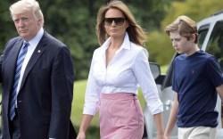 Melania Trump & Son Barron's Shoe