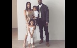 Kim Kardashian West & Kanye West With North & Saint