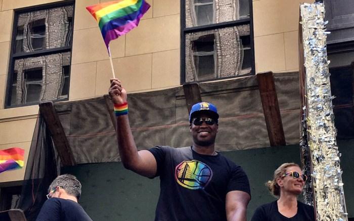 nba, nba care, jason collins, nyc gay pride, parade, 2017