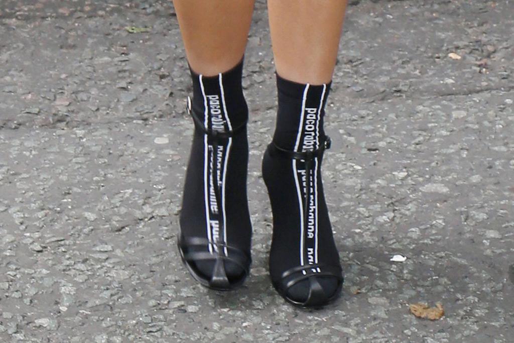 rita ora style socks sandals