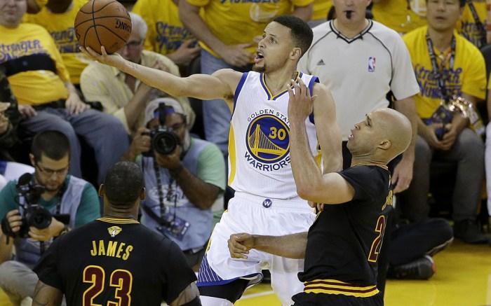 Stephen Curry LeBron James Richard Jefferson 2016 NBA Finals