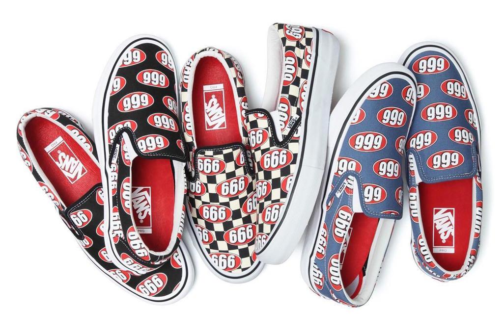 Supreme x Vans Slip-On 666 Collection