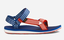 teva sandals, patriotic, red white and