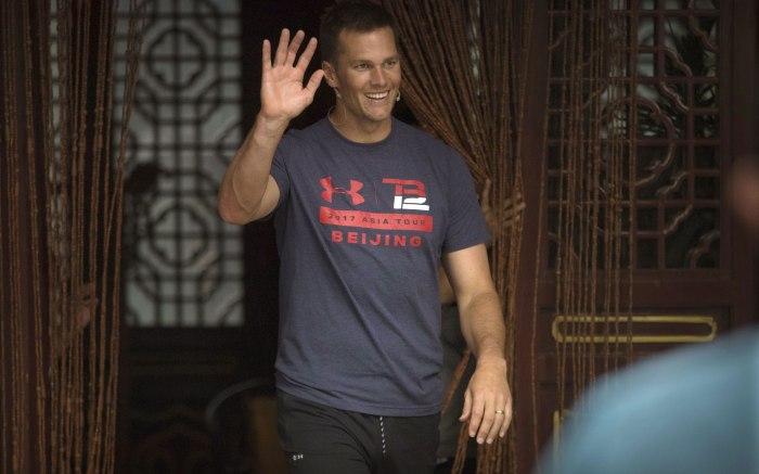 Tom Brady Tours China
