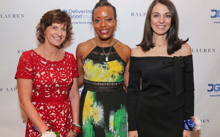 The three honorees of Delivering Good's 2017 Women of Inspiration Luncheon are (L to R) Gaye Dean, Director, License Marketing at Target; Fashion Designer Tracy Reese; and Lana Todorovich, President, North American Wholesale, Ralph Lauren