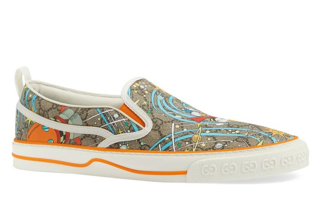 Gucci x Disney Tennis 1977 Donald Duck Slip-On Sneakers