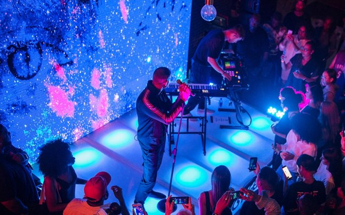 Majid Jordan at the Asics and foot action event