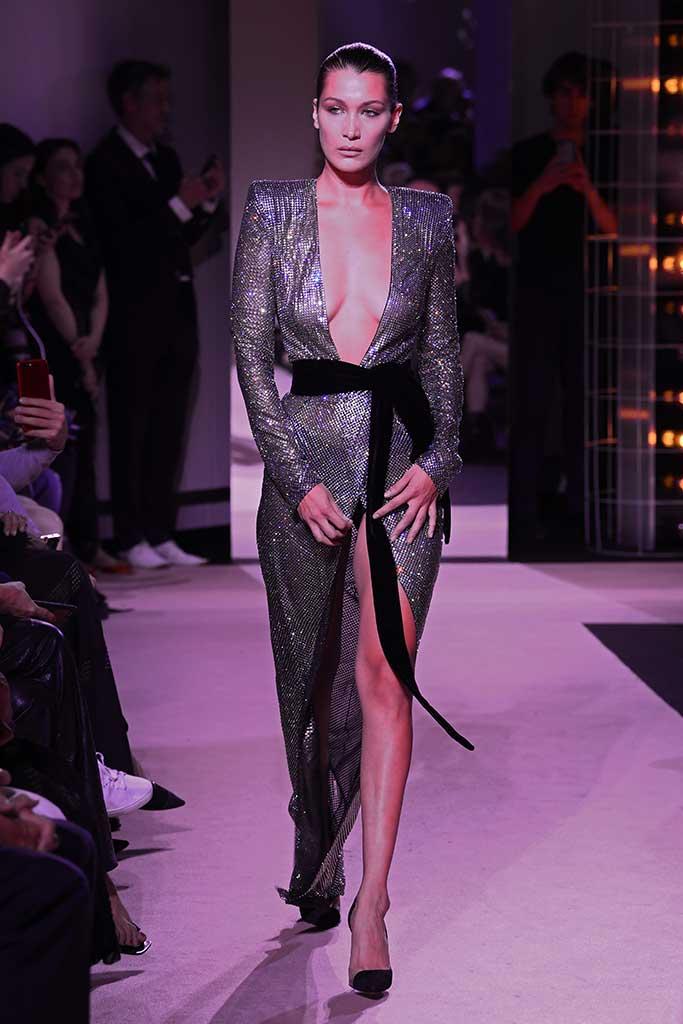 Bella Hadid at Alexandre Vauthier.