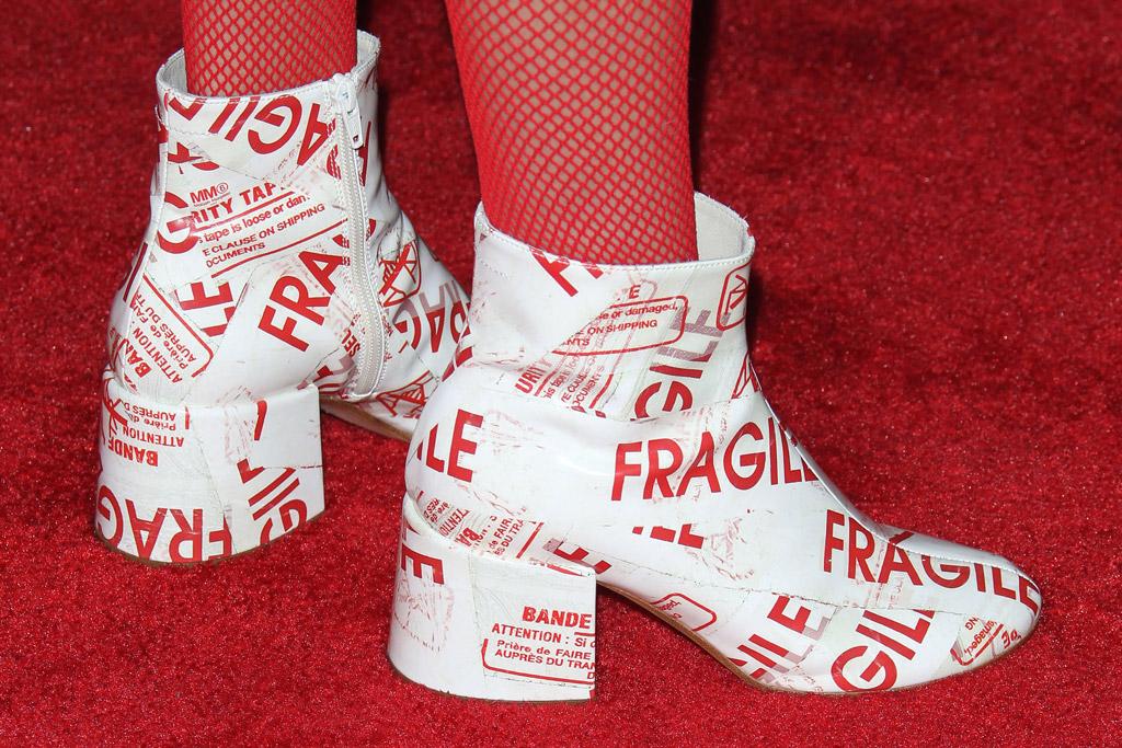 Bella Thorne, booties, Maison Margiela