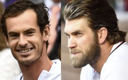 bryce harper hair, andy murray, wimbledon,