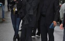 Celine Dion: Pinstripes & Pumps in Paris